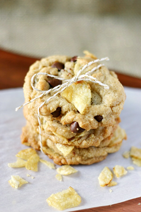 vegan Chocolate Potato Chip Cookies