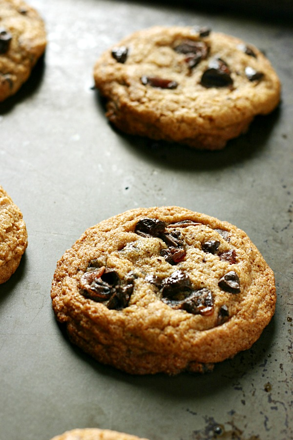 pomegranate chocolate chip cookies 5