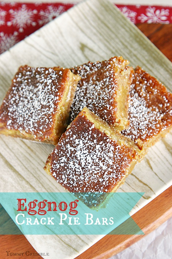 Eggnog Crack Pie Bars - www.yummycrumble.com