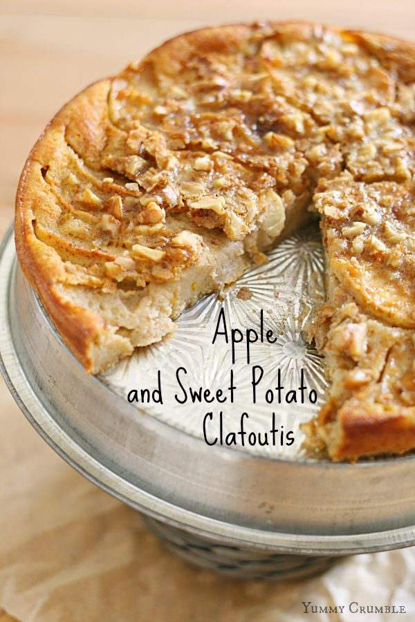Apple and Sweet Potato Clafoutis