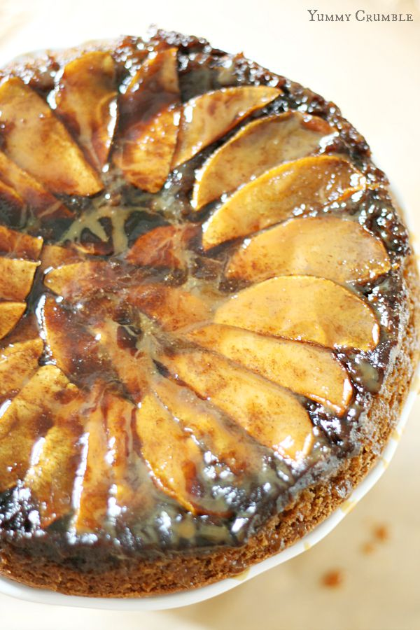 upside down cake upside down butterscotch apple sour cream cake ...