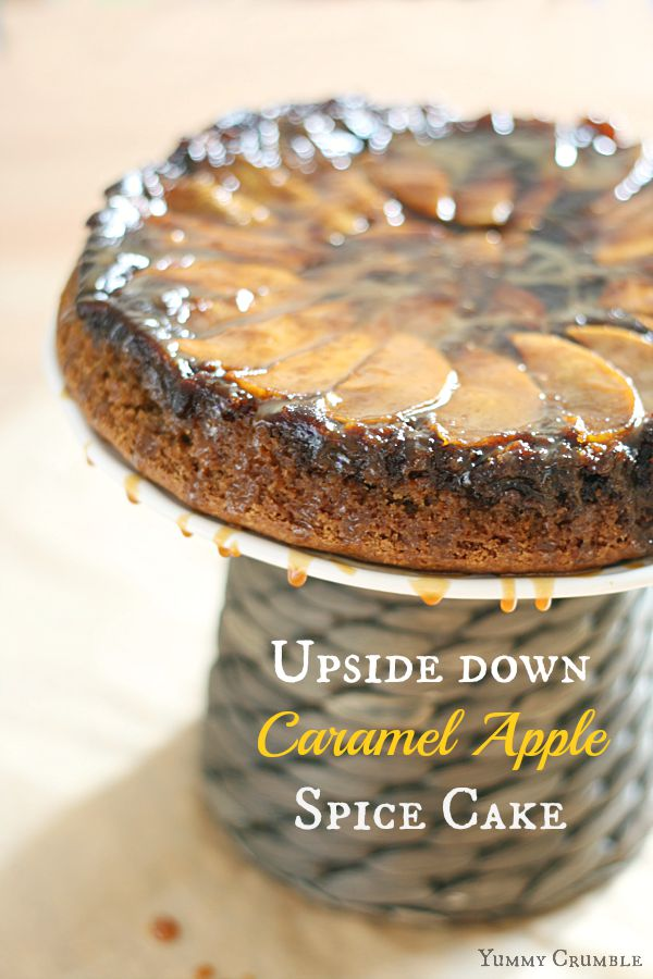 Upside Down Caramel Apple Spice Cake