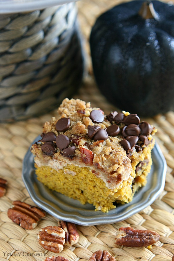 Chocolate Chip Pecan Pumpkin Coffee Cake