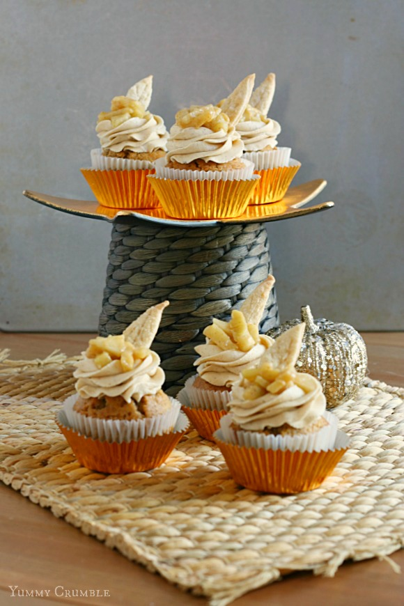 Apple Pie Cupcakes with Brown Sugar Buttercream