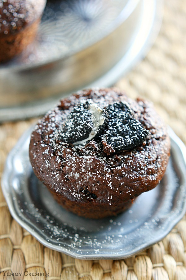 Oreo Double Chocolate Chip Muffins