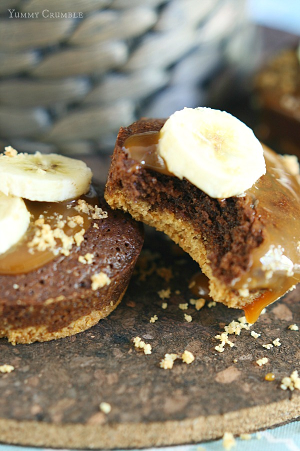 Miniature Banoffee Brownies
