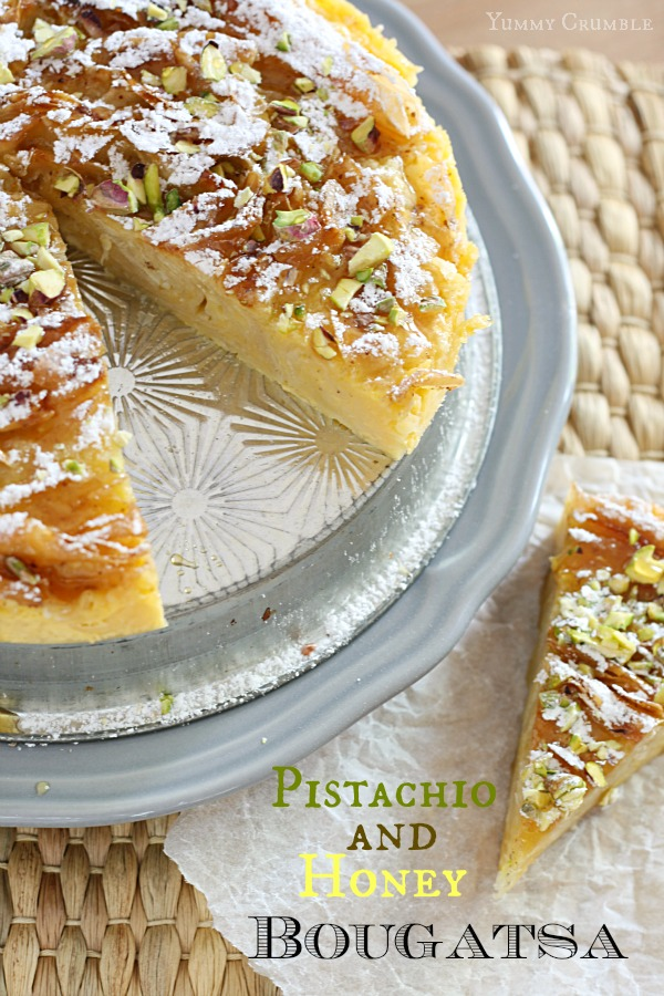 Pistachio and Honey Bougatsa