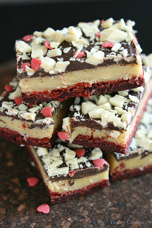 Red Velvet Caramel Slice