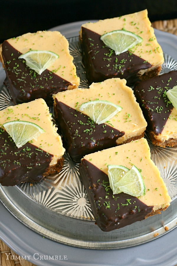 Chocolate Dipped Key Lime Pie Bars